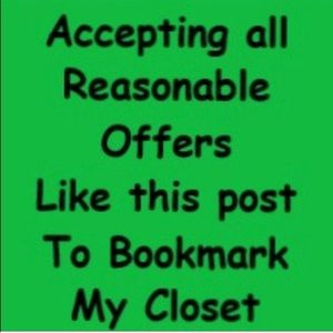 """Like"" this post to Bookmark my closet."